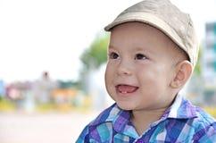 Happy baby boy. Cute baby boy outdoor portrait Stock Photo