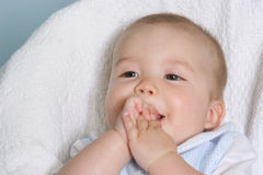 Happy baby boy. Smiling baby boy Stock Photos