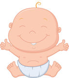 Happy baby boy cartoon. Illustration of Happy baby boy cartoon Royalty Free Stock Image