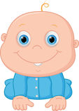 Happy baby boy cartoon Stock Photos