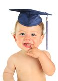 Happy baby boy graduate. Stock Photo