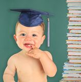 Happy baby boy graduate. Royalty Free Stock Photography
