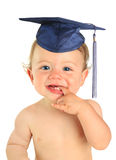 Happy baby boy graduate. royalty free stock image