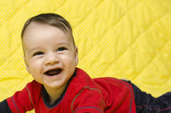 Happy baby boy laughing Stock Photos