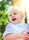 Happy Baby Boy outdoor Stock Photo