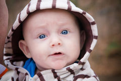 Happy Baby Boy Outside Royalty Free Stock Photos