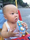 Happy baby boy in stroller Royalty Free Stock Photo