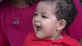 Happy Baby Boy Waving stock video