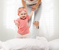 Happy baby child playing Royalty Free Stock Photos