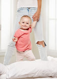 Happy baby child playing Stock Images