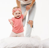 Happy baby child playing Stock Image