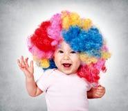 Happy baby clown royalty free stock image