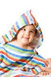 Happy baby in colors Royalty Free Stock Images
