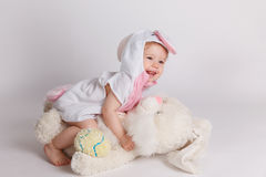 Happy baby in costume Stock Photos