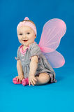 Happy baby in costume fairies Royalty Free Stock Photos