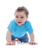 Happy Baby Crawling Royalty Free Stock Photos