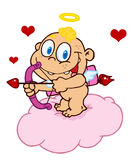 Happy baby cupid Royalty Free Stock Photos
