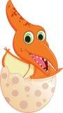 Happy baby dinosaur hatching Stock Photos