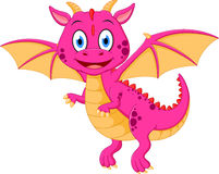 Happy baby dragon cartoon Royalty Free Stock Image