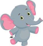 Happy baby elephant cartoon. Vector illustration of Cute happy baby elephant cartoon isolated on white Stock Image
