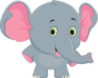 Happy baby elephant cartoon Royalty Free Stock Photos