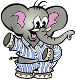 Happy Baby Elephant in Pajamas Royalty Free Stock Photo