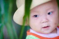 Happy baby face closeup  Royalty Free Stock Images