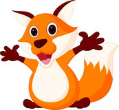 Happy Baby fox cartoon Stock Images