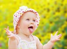 Happy baby girl. Portrait of happy baby girl Royalty Free Stock Photos