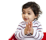 Happy Baby Girl Clapping Hands Royalty Free Stock Photos