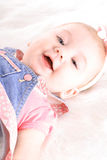 Happy baby girl headshot Royalty Free Stock Photography