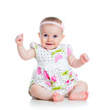 Happy baby girl stock photo