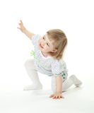 Happy baby girl playing royalty free stock image