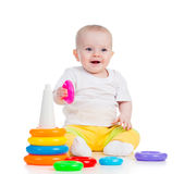 Happy baby girl playing Royalty Free Stock Images