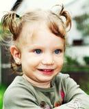 Happy baby girl portrait royalty free stock photo