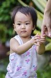 Happy baby girl walking Royalty Free Stock Photography