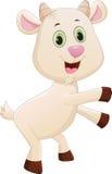 Happy baby goat cartoon Royalty Free Stock Photography