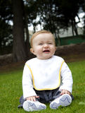 Happy baby on a grass Royalty Free Stock Photo