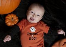 Happy baby on halloween Stock Photography