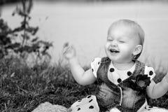 Happy Baby at the Lake Royalty Free Stock Photo