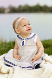 Happy Baby at the Lake Royalty Free Stock Photography