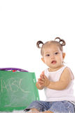 Happy baby learning Royalty Free Stock Photo