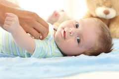 Happy baby looking at you Royalty Free Stock Photo