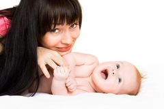 Happy baby with mother Royalty Free Stock Photos