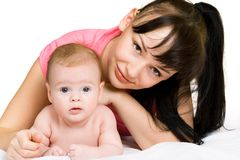 Happy baby with mother Royalty Free Stock Photo
