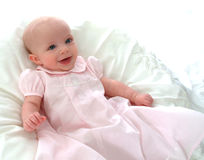 Happy Baby in Pink Royalty Free Stock Image