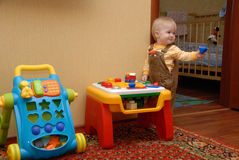 Happy baby play Stock Photos