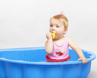 Happy baby playing Stock Image