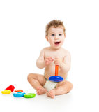 Happy baby playing Royalty Free Stock Photos