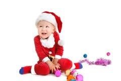 Happy baby santa Royalty Free Stock Image